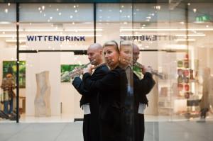 """""""Spiegelung"""" in der Glasfassade der Fünf Höfe"""